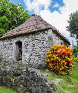 Traditional stone house at Batan Island, Batanes, Philippines